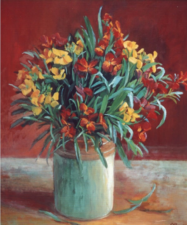 Australian artist Margaret Olley, Wildflowers - 1972,