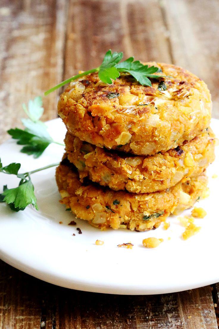 Chickpea Onion Patties (non-deep fried Felafels) - Grains and Legumes, Recipes - Divine Healthy Food