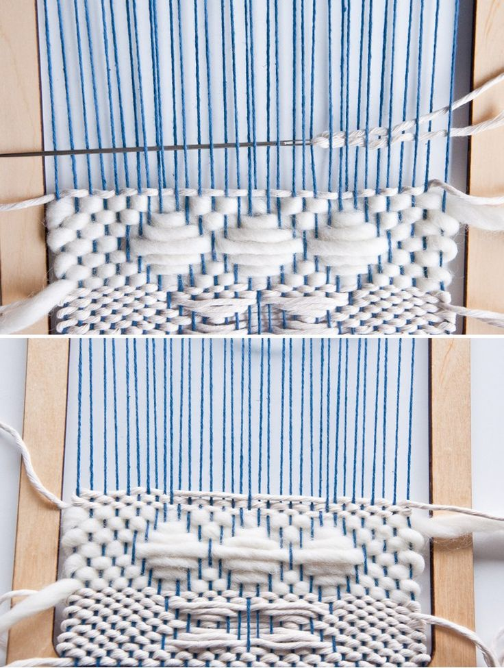 Weft Over Hour Glass Pattern Tutorial