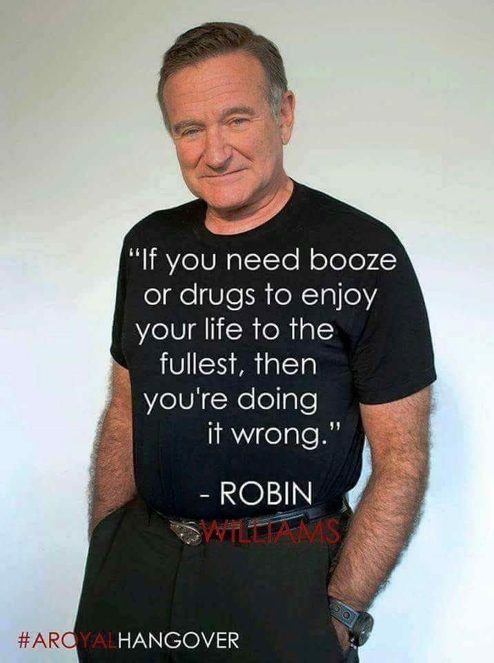 Self Medicating Robin Williams Quotes Robin Williams Recovery Quotes