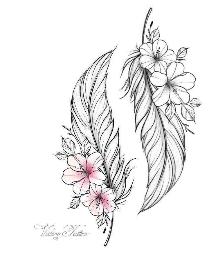 Remplacer Des Fleurs De Pavot W In 2020 Flower Tattoos Feather Tattoo Design Feather Tattoos