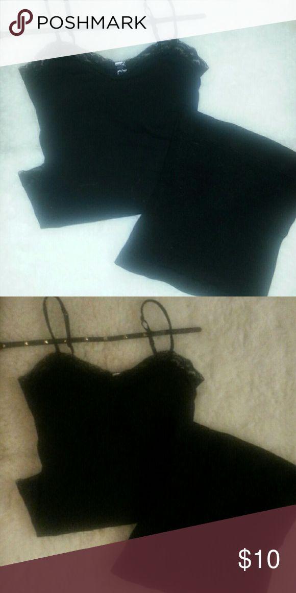 Black tank and black waist trainer Black tank and black slide on waist trainer Tops Camisoles