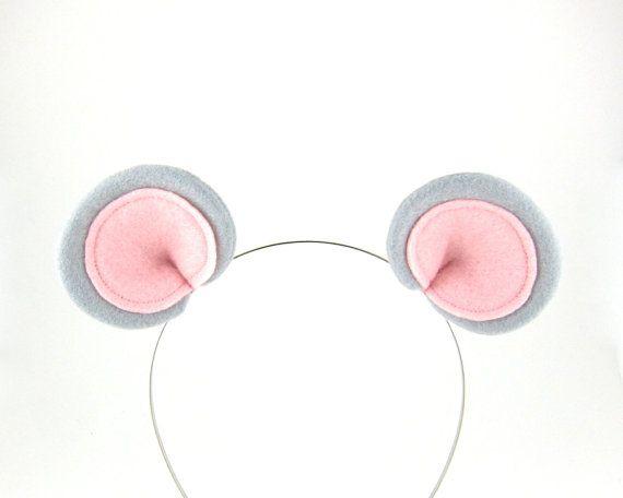 Graue Maus Ohren Haar Clips Kostüm-Ohr-Clips von Snowbella auf Etsy
