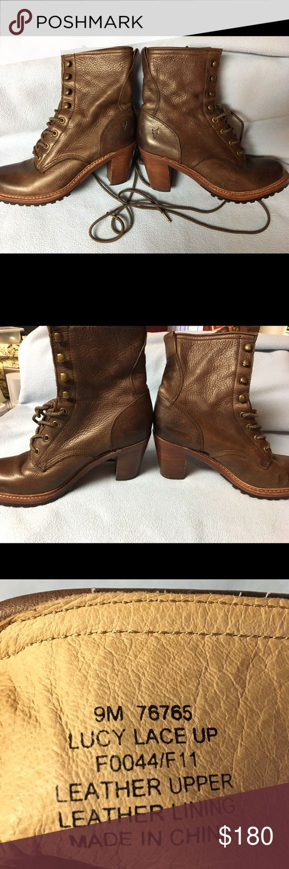 Fry Boots Style-Lucy Lace Up. Excellent condition like new. Frye Shoes Heeled Boots