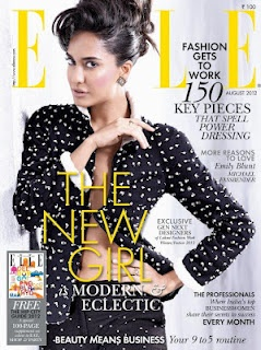 Lisa Haydon on The Cover of Elle Magazine August 2012. | Bollywood Cleavage