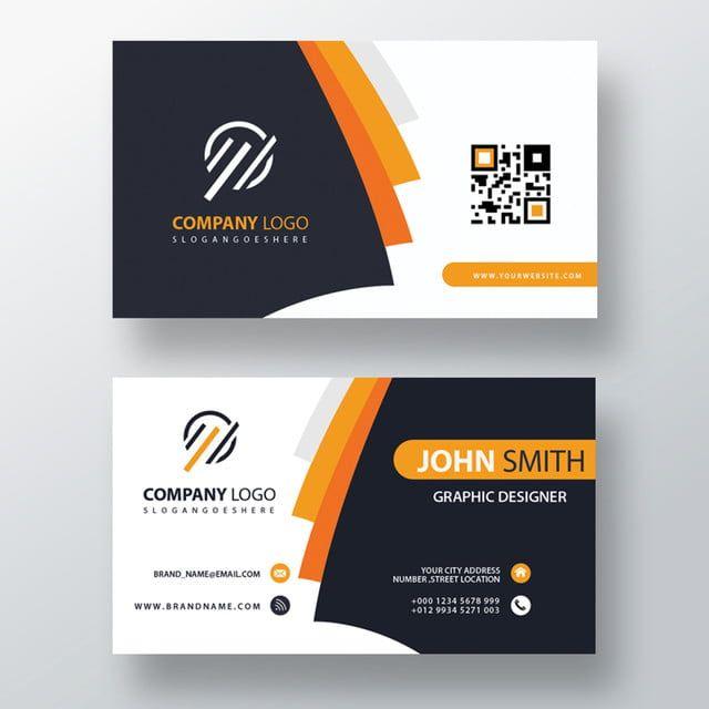 Orange Elegant Corporate Card Business Card Psd Business Cards Creative Business Card Mock Up