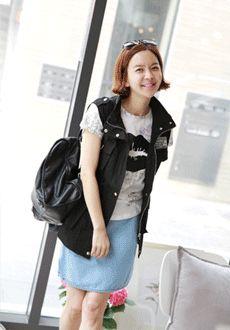 Drawstring Vest with High Collar  SFSELFAA0013970