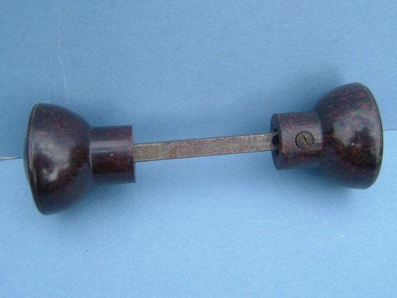 1930s bakelite door handles door knobs with metal center for 1930 door locks