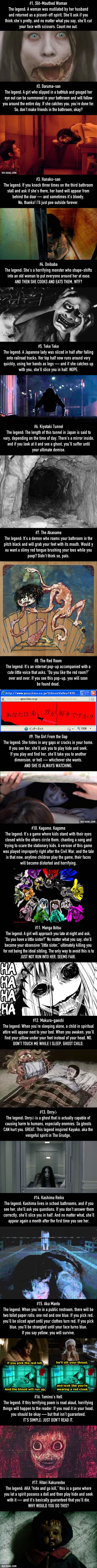 Warning: Do NOT read these 17 Japanese urban legends before bed. They will scare the shit out of you. Trust me...