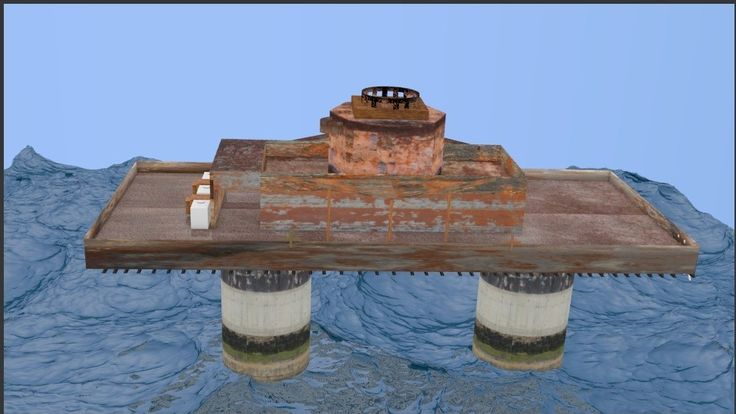 Free Maunsell Forts 3D Model - 3D Model