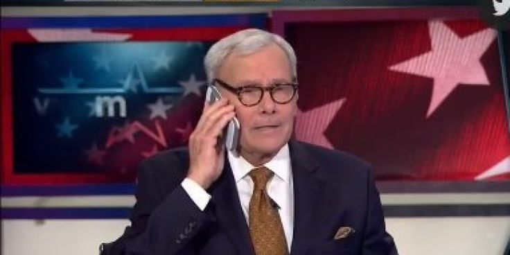 Tom Brokaw's Phone Rings On Air During Midterm Results | It happens to the best of us, Tom . While iconic newsman Tom Brokaw was discussing the Tuesday's midterm election results on MSNBC, a fire alarm-like sound began to blare. After a few moments of confusion, Brokaw realized the dreadful noise was actually his phone .. [.READ MORE .WATCH VIDEO.]