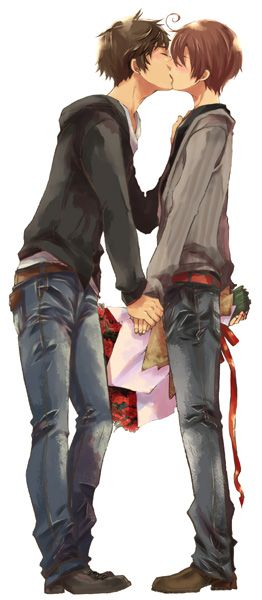 aww Romano was trying to be nice and Spain decided to reward him for it (Spamano) (cue nosebleed and fangirl scream)