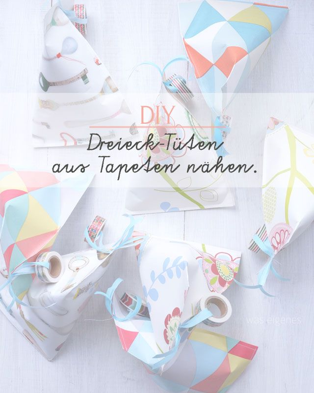 DIY Dreieck Tüten   Tapeten   was eigenes Blog 4