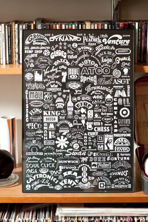 45 rpm Record Poster: Poster Design, Art Illustrations, Typography Poster, Digital Art, Design Poster, Records Poster, 45Rpm Records, Poster Typography, Records Labels