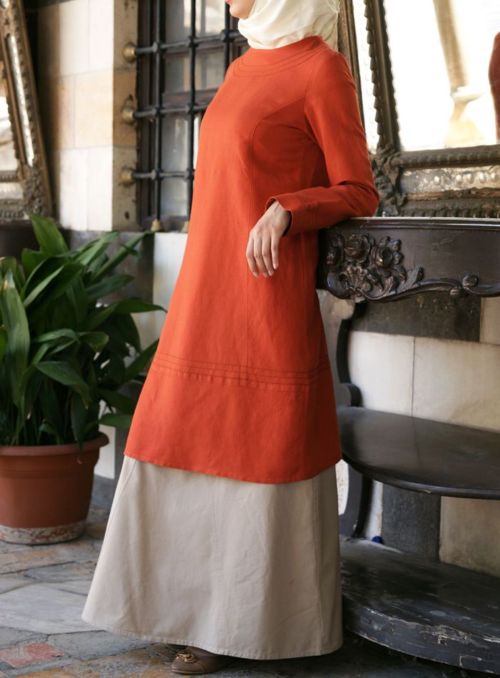 Simple details and a classic cut- long tunics from SHUKR Islamic Clothing