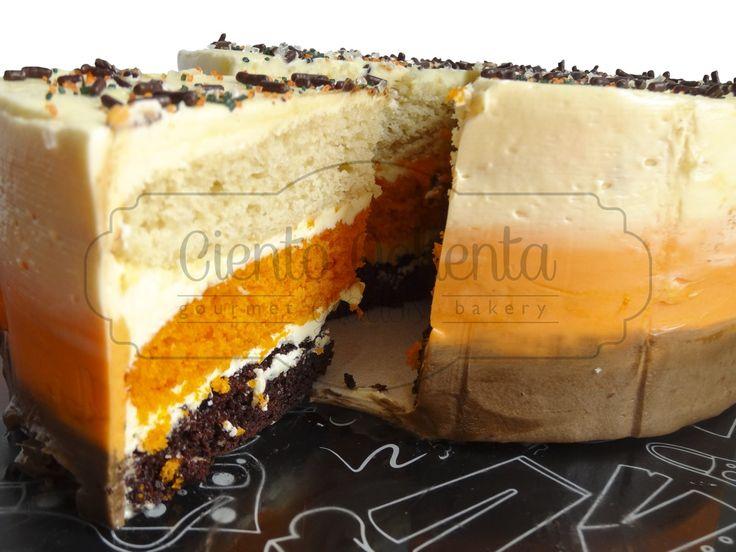 Torta de Vainilla con Chocolate