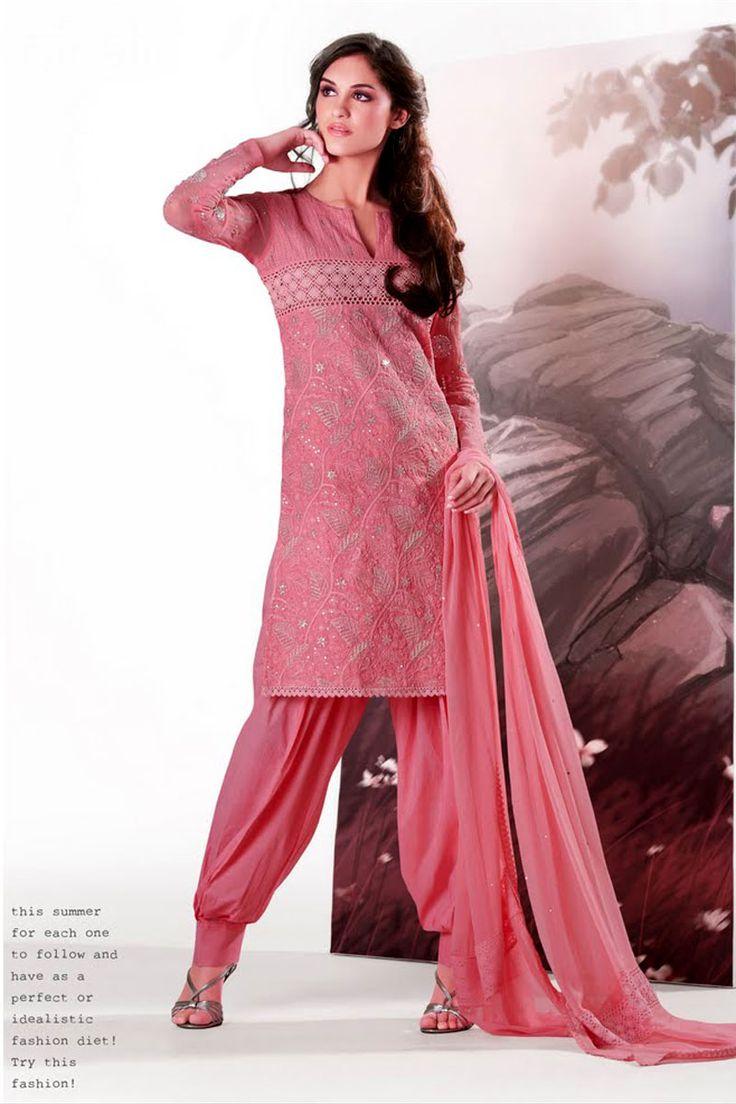 Punjabi Suit N.B. the slimness of the pants