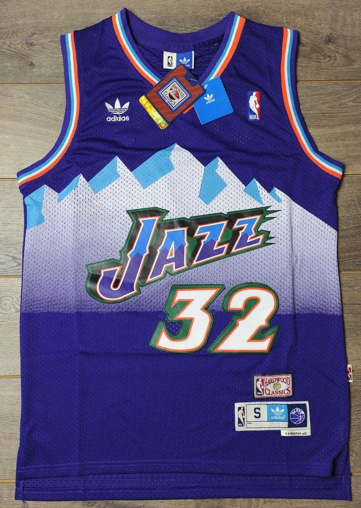 4d385b20 Men 32 Karl Malone Jersey Purple Utah Jazz Jersey Throwback Swingman ...