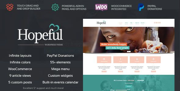Hopeful - Church/Non-Profit WordPress Theme