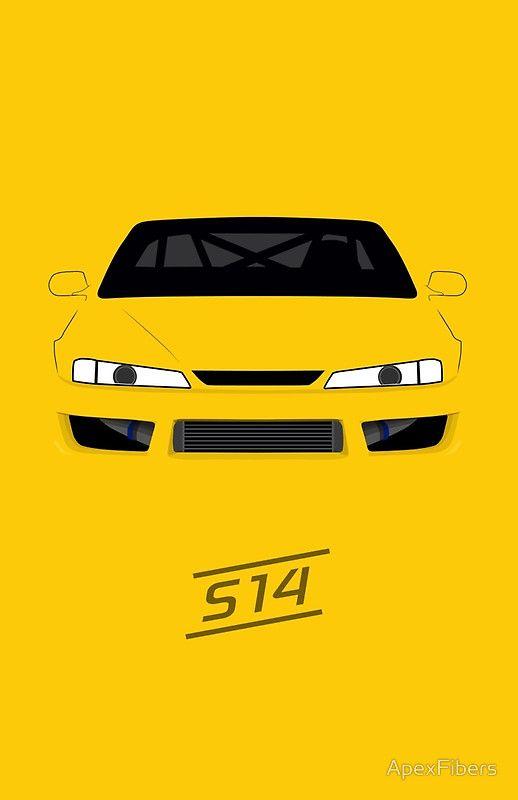 Nissan Silvia (S14) | ApexFiber Originals | Pinterest ...
