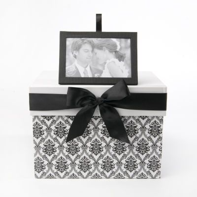 262 best anniversaire L    a images on Pinterest   Ideas para fiestas     Keepsake Card Box Black and White Style 78576   To Have and Hold Wedding  Store