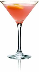 Cosmopolitan (Coupe - Shake  double strain) 4 Green Mark, 2 Cointreau, 2 Lime juice, 2 Cranberry juice, Garnish - Flamed orange zest (discard)