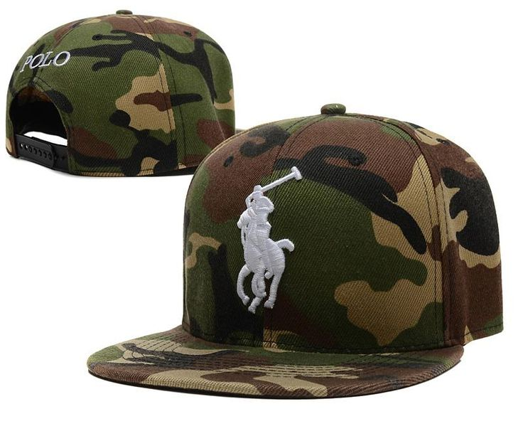Mens Polo Ralph Lauren Big Pony Embroidery 2016 Fashion Trend Top Quality Leisure Snapback Cap - Camo