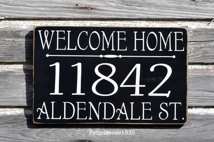 House Numbers Welcome Home Sign Address Plaque Custom