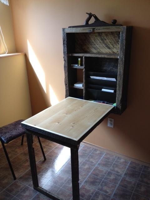 Murphy Desk Open Tiny House Design Home Furniture