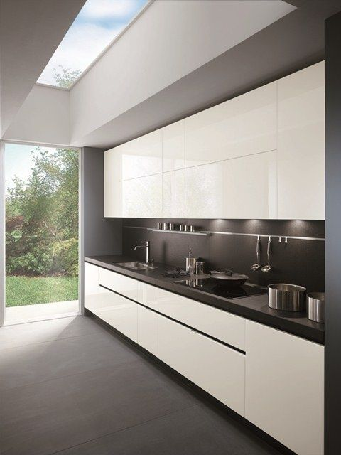 Sleek contemporary kitchen. #design