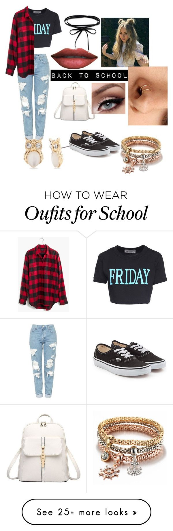 """""""Back to school..."""" by someleze-jacobs on Polyvore featuring Alberta Ferretti, Topshop, Madewell, Vans and True Craft"""
