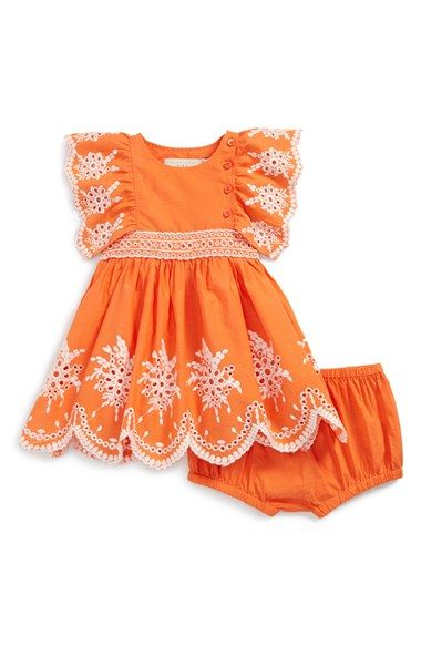 Stella+McCartney+Kids+Eyelet+Flutter+Sleeve+Dress+&+Bloomers+(Baby+Girls)+available+at+#Nordstrom