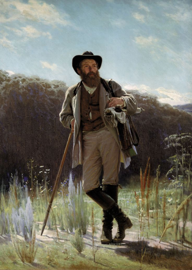 Portrait of the Artist Ivan Shishkin by Ivan Nikolaevich Kramskoy