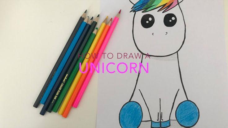 How to draw a Unicorn / Como dibujar un Unicornio / Art for kids - YouTube