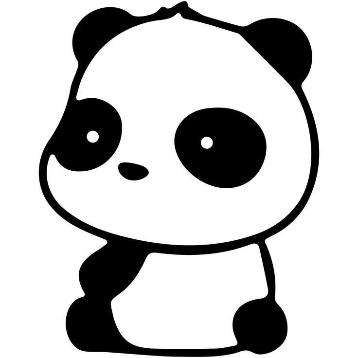 Panda Sitting 6 Quot Vinyl Decal Car Window Sticker Bumper