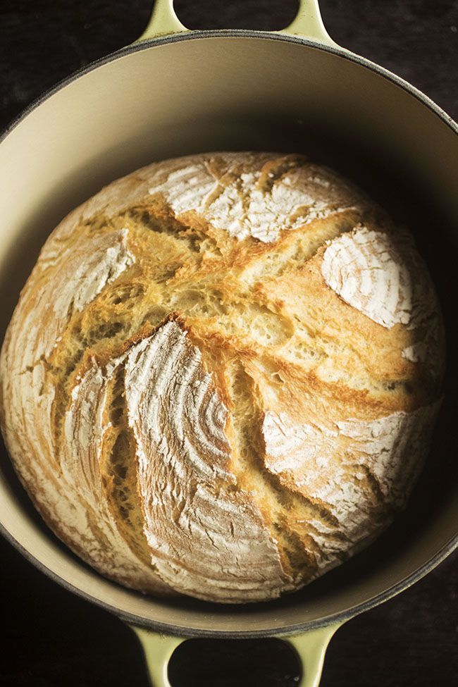 Easy Crusty French Bread   Recipe   Dutch oven bread ...