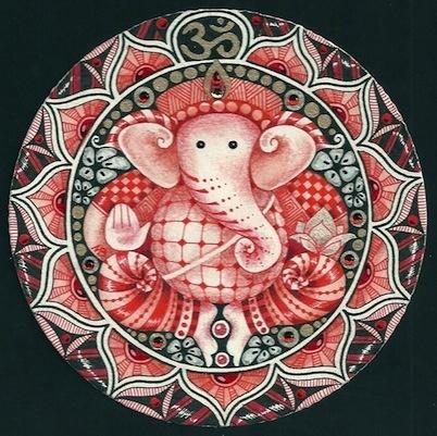Zentangle Ganesha 91 by Margaret Bremner