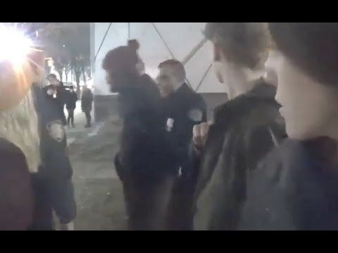 Shia lebeof getting arrested on his livestream     NO clue who he is.. actor from what I read.. very weird people in hollyWEIRD