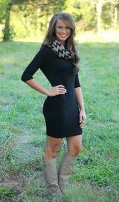 Black Piko Dress