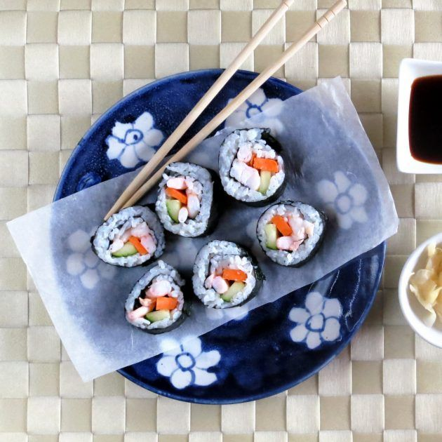 Make super-sticky sushi rice in your pressure cooker in just minutes!  While the rice is pressure cooking you can prep the sushi fillings.  This video feat