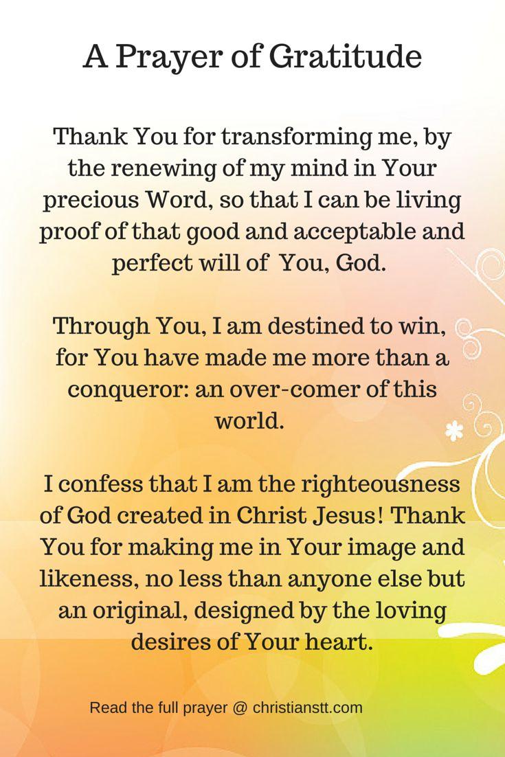 A Prayer of Gratitude  Thank You  DAILY PRAYER