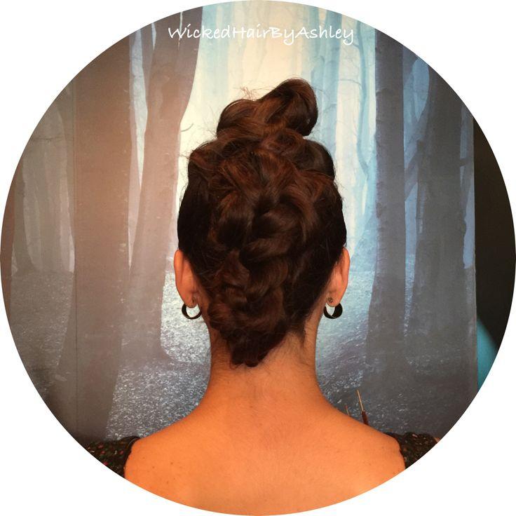 Updo using braids