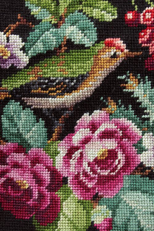 Vintage Home: Stunning needlepoint.