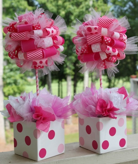 ribbon topiaries