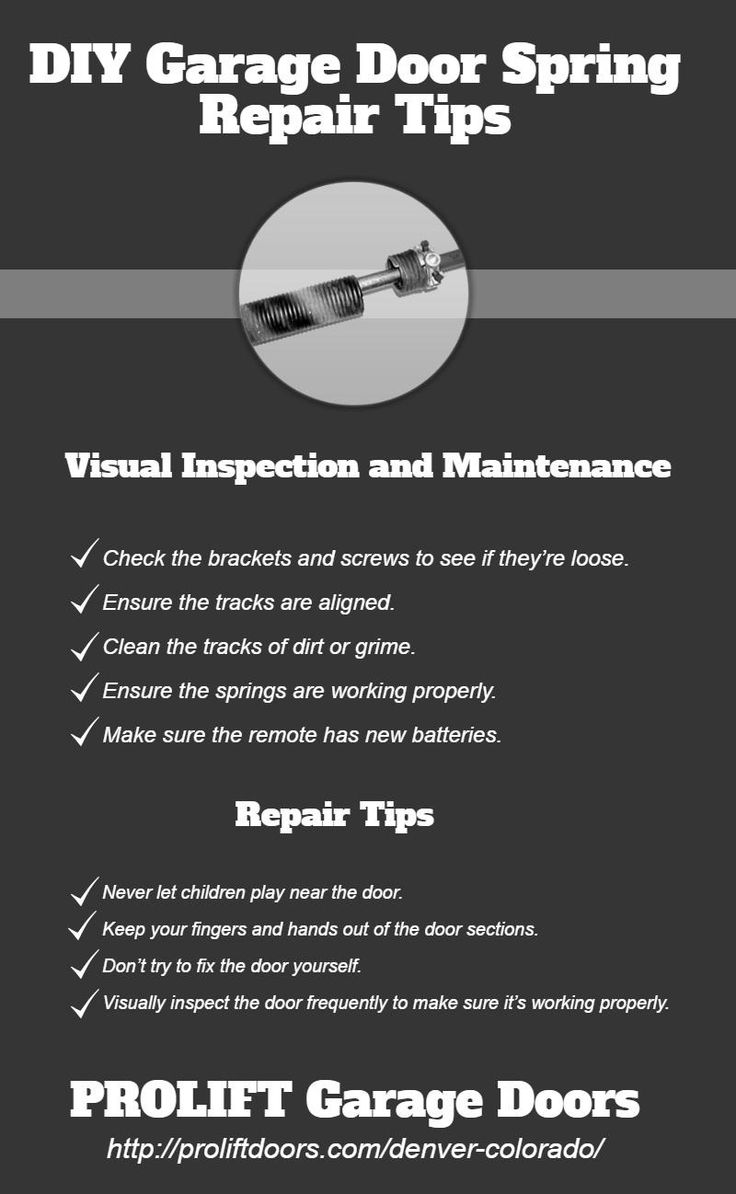 Diy garage door spring repair tips dock and doors pinterest diy garage door spring repair tips dock and doors pinterest garage doors garage door spring repair and diy garage door solutioingenieria Gallery