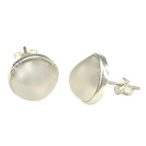 Aria Shell Pear Stud Earrings