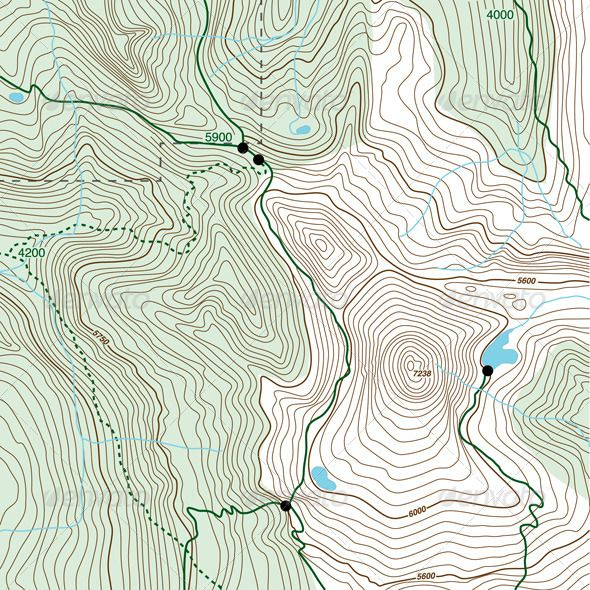 Topo Background #GraphicRiver Topographic map with contour lines, trails and streams. This is a fictitious map, made to resemble common topographic maps, such as those made by the USGS. Vector file — will scale to any size without loss of quality. Native AI file plus large JPEG included in the download. No effects or transparency. Created: 7June13 GraphicsFilesIncluded: JPGImage #VectorEPS #AIIllustrator Layered: No Tags: backgrounds #cartography #chart #contour #diagram #drawing #hiking…