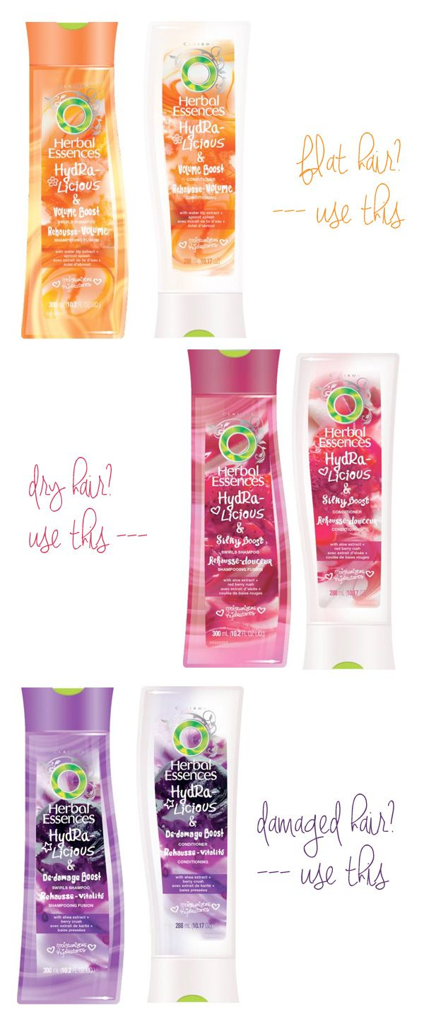 Herbal Essences HydraliciousCollection: Help for every type of hair!