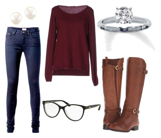 """""""Everyday[14]"""" by agentpalmer on Polyvore featuring Tommy Hilfiger, Fred Perry, Naturalizer and Bulgari"""