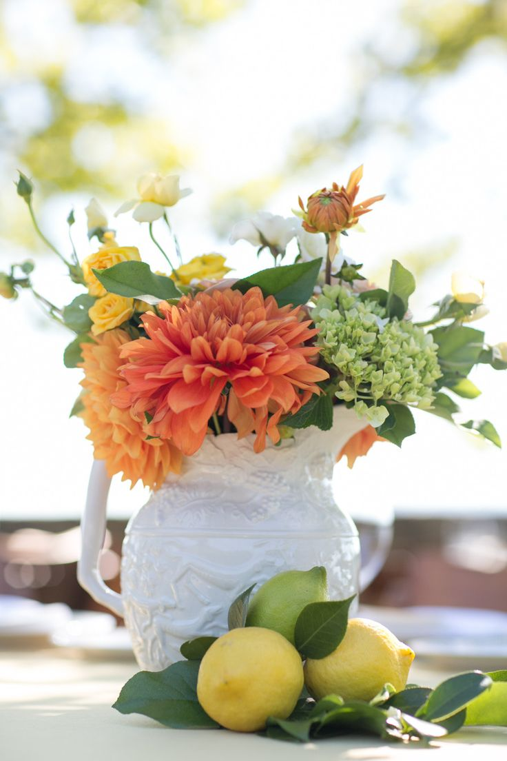 Lots of different white containers for #Centerpieces | Sabine Scherer Photography | See the wedding on SMP - http://www.StyleMePretty.com/little-black-book-blog/2014/01/08/casual-stryker-winery-wedding/
